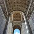 图库照片: Arc de Triomphe underneath