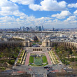 Stock Photo: Trocadero from bird view