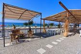 Comoda terrazza sul mare — Foto Stock
