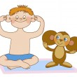 Постер, плакат: Childs gymnastics Cheburashka