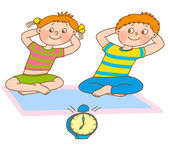 Child's gymnastics — Stock Photo