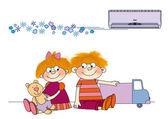 Air-conditioner — Zdjęcie stockowe