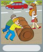 Peligro de carretera — Foto de Stock