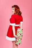 Kvinnliga santa — Stockfoto