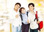 Happy schoolboys — Stock Photo