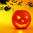 Holiday background Halloween pumpkin — Stock Photo #6843486