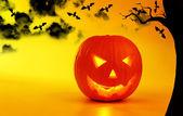 Tło wakacje halloween dynia — Zdjęcie stockowe