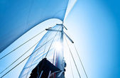 Sail over blue sky — Stock Photo