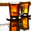 Two cup of tea - Stock Photo