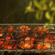 Stock Photo: BBQ chicken