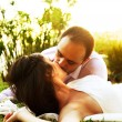 Happy couple kissing — Stock Photo #6946936