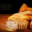 Warm baked bread — Stock Photo
