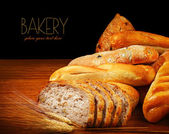 Warm baked bread — Stock Photo