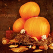 Thanksgiving holiday greeting card — Stock Photo