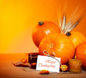 Thanksgiving holiday decoration border — Stock Photo