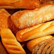 Fresh baked bread background — Stock Photo