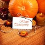 frontera de decoración de vacaciones de acción de Gracias — Foto de Stock