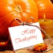 Стоковое фото: Thanksgiving holiday card