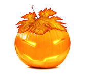 Halloween glowing pumpkin — Stock Photo