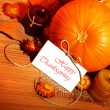 Stock Photo: Thanksgiving holiday decoration border