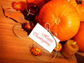 Thanksgiving holiday decoration border — Zdjęcie stockowe