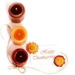 bordo decorativo di festa del ringraziamento — Foto Stock