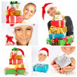Winter holidays concept Christmas collage — Foto Stock