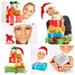 Winter holidays concept Christmas collage — Stock Photo