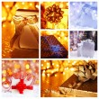 Christmas gift concept collage — Stock Photo