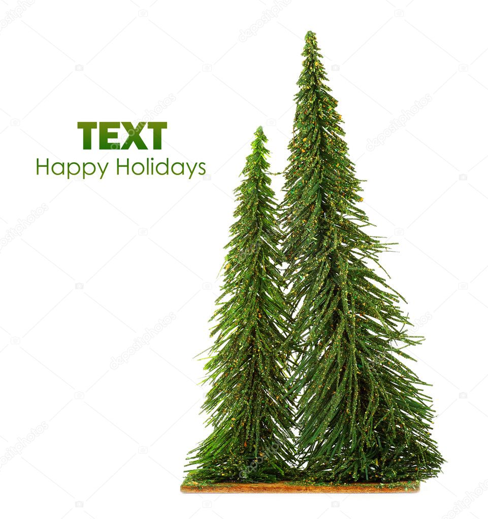 Christmas tree isolated on white background, winter holiday decorative ornament — Stock Photo #7580487