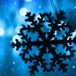 Blue Christmas background — Stockfoto