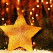 Christmas tree star decoration — Stock Photo