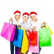 Royalty-Free Stock Photo: Happy Santa boys with gifts