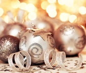 Christmas tree bauble ornament and star decoration — Stock Photo