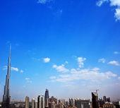Paesaggio urbano moderno di Dubai — Foto Stock