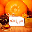 Thank you background, thanksgiving greeting card — Stock Photo