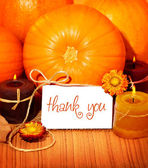 Thank you background, thanksgiving greeting card — Photo
