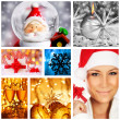 Winter holidays concept collage — Stock Photo