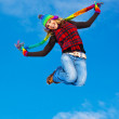 Happy girl jumping — Stock Photo #7790495