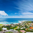 Cape Town city panoramic image — Stock Photo
