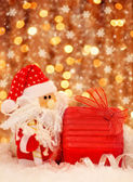 Christmas gift from Santa — Stock Photo