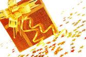 Gift box with stars — Stock Photo