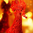 Red angel Christmas ornament — Stock Photo
