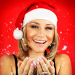 Happy Santa girl — Stock Photo #7902678