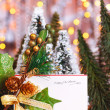 Stockfoto: Happy holiday Christmas card
