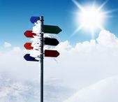 Mountain guidepost — Stock Photo