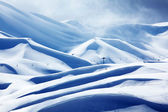 Winter mountain ski resort — Stock Photo
