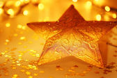 Star Christmas tree decoration — Stock Photo