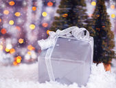 Stříbrné dárkové krabice — Stock fotografie