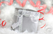 Srebrne pudełko — Zdjęcie stockowe